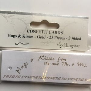 Wedding Star Confetti cards hugs and kisses